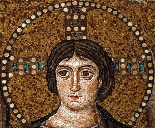 Bezbrody Chrystus z bazyliki San Vitale w Rawennie (VI w.) /Archiwum