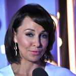 Beżowa Anna Popek na nagraniu nowego programu