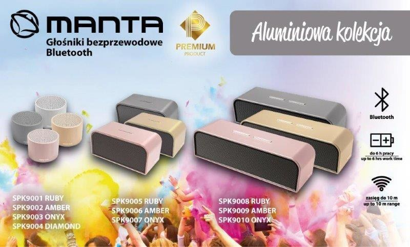 Bezprzewodowe głośniki Bluetooth firmy Manta /materiały prasowe