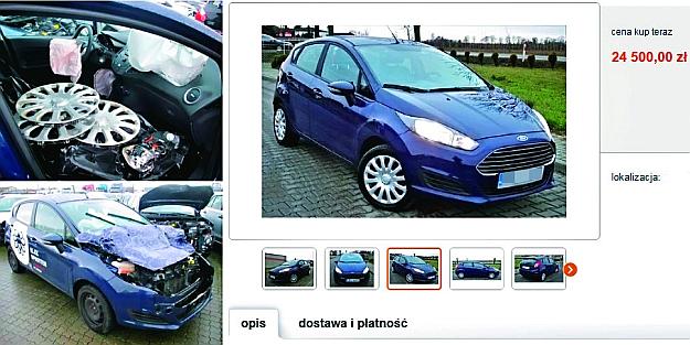 """""""Bezwypadkowa"""" Fiesta z Danii – po numerze rejestracyjnym udało się ustalić jej prawdziwą przeszłość. /Motor"""