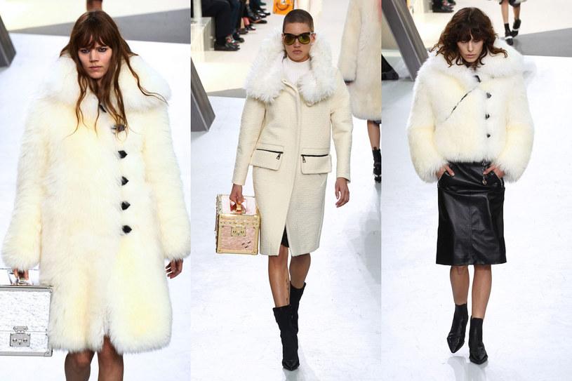 Białe, futerkowe płaszcze i kurtki /East News/ Zeppelin