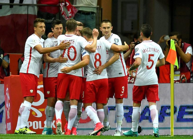 """""""Biało-czerwoni"""" podczas meczu z Rumunią /Bartłomiej Zborowski /PAP"""