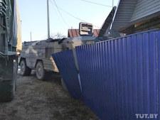 Białoruś: System rakietowy wjechał w dom. 85-latka cudem uniknęła śmierci