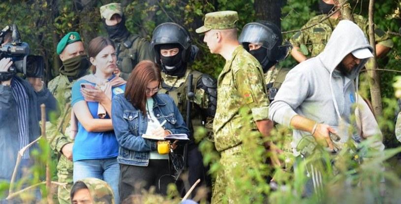 Białoruskie wojsko na granicy /Straż Graniczna /materiały prasowe