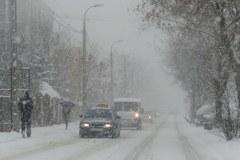 Biały poranek w Warszawie