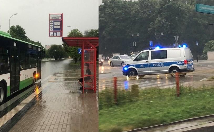 Białystok nawiedziły gwałtowne opady. /bia24.pl /