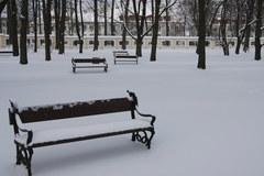 Białystok przykryty śniegiem
