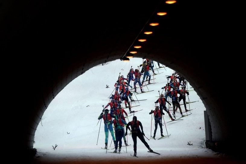 Biathloniści /AFP