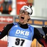 Biathlonowy mistrz z nowym karabinem