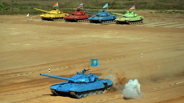 Biatlon czołgowy /AFP