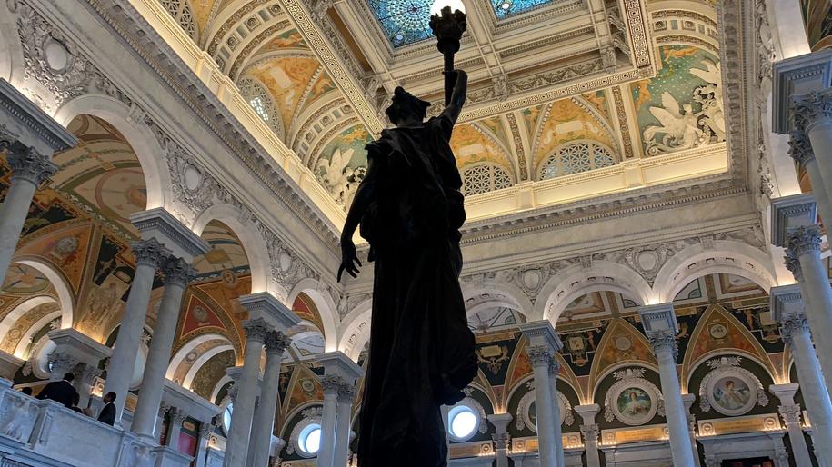 Biblioteka Kongresu robi duże wrażenie /Paweł Żuchowski /RMF FM