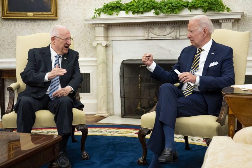 Biden gościł w Białym Domu prezydenta Izraela Reuwena Riwlina. /PAP/EPA/DOUG MILLS/ POOL /PAP