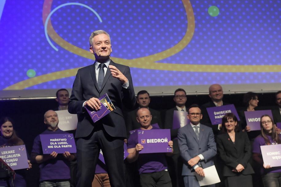 Biedroń w niedzielę zdradził nazwę i program swojej partii /Grzegorz Michałowski   /PAP/EPA