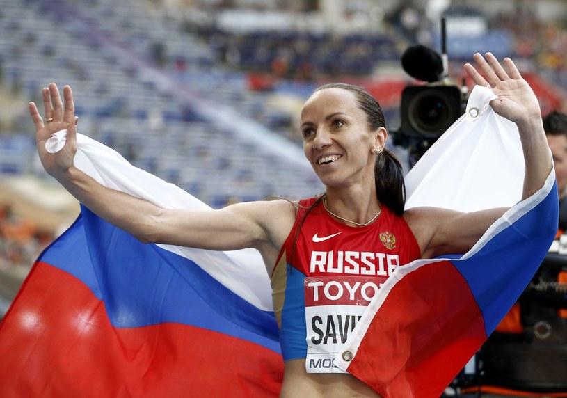 Biegaczka Maria Sawinowa podczas MŚ w Moskwie /AFP