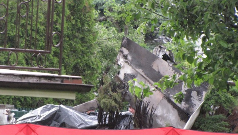 Bielsko-Biała: Katastrofa awionetki