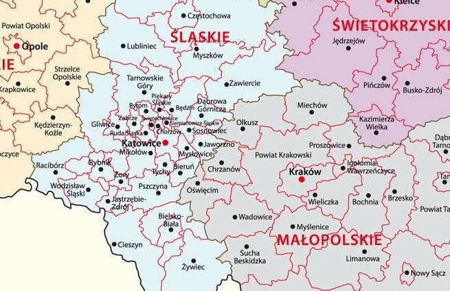 Bielsko-Biała leży w południowej części województwa śląskiego /RMF24.pl