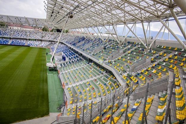 Bielsko-Biała - stadion, na którym gra Podbeskidzie. Fot. TS Podbeskidzie /