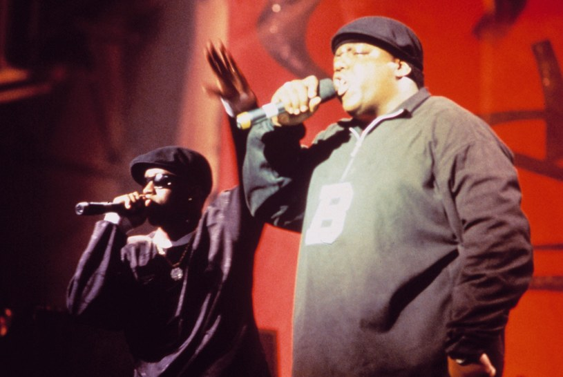 Biggie i Diddy na jednym z koncertów w 1996 roku /Courtesy Everett Collection /East News