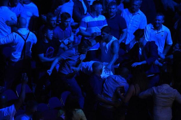 Bijatyka na trybunach podczas walki Tysona Fury'ego z Seferem Seferim /AFP