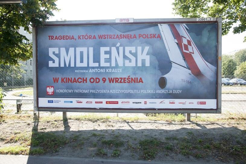 "Bilboard filmu ""Smoleńsk"" /Wojciech Stróżyk /Reporter"