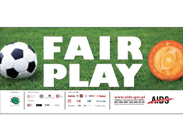 "Bilbord kampanii ""FAIR PLAY"" /http://www.aids.gov.pl/ /materiały prasowe"