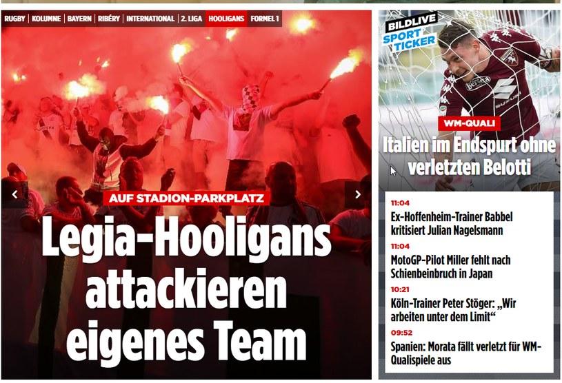 """""""Bild"""": Chuligani Legii zaatakowali własny zespół /Internet"""