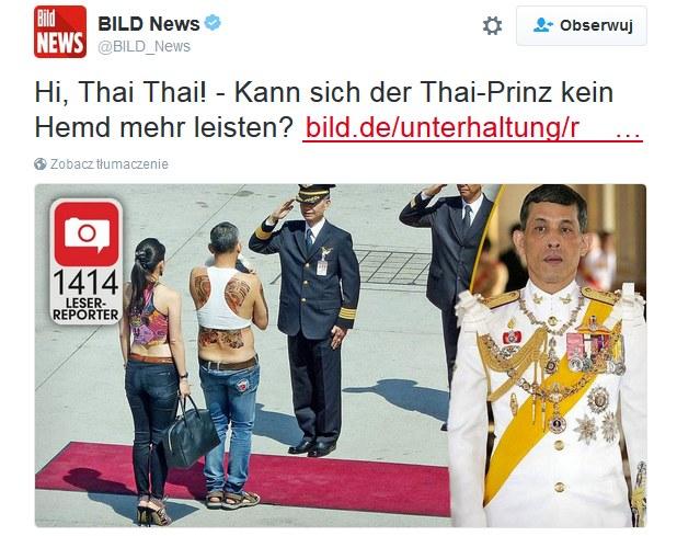"""""""Bild"""" publikuje zdjęcia z wizyty 63-letniego królewskiego syna /Twitter"""