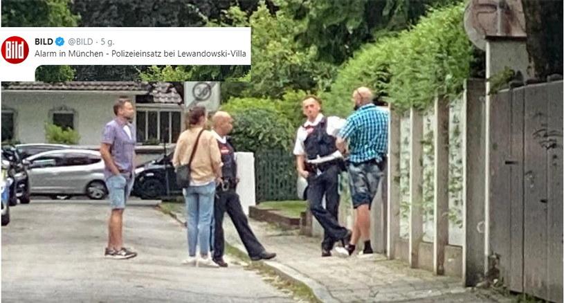 """""""Bild"""" ujawnił, co działo się przed willą Lewandowskich /"""