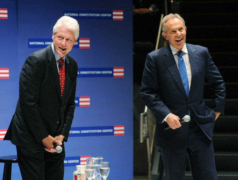 Bill Clinton i Tony Blair /AFP