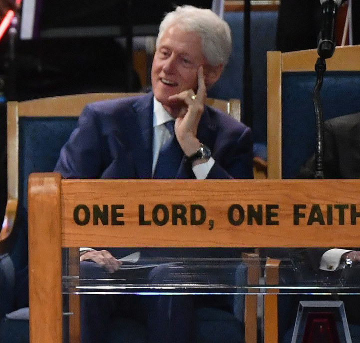 Bill Clinton zachwycony występem Ariany Grande /Angela Weiss /East News
