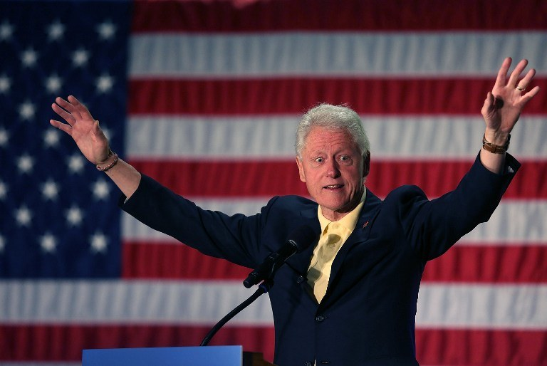 Bill Clinton /JOE RAEDLE / GETTY IMAGES NORTH AMERICA / AFP /AFP