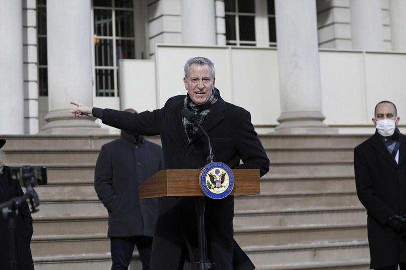 Bill de Blasio, burmistrz Nowego Jorku /EPA