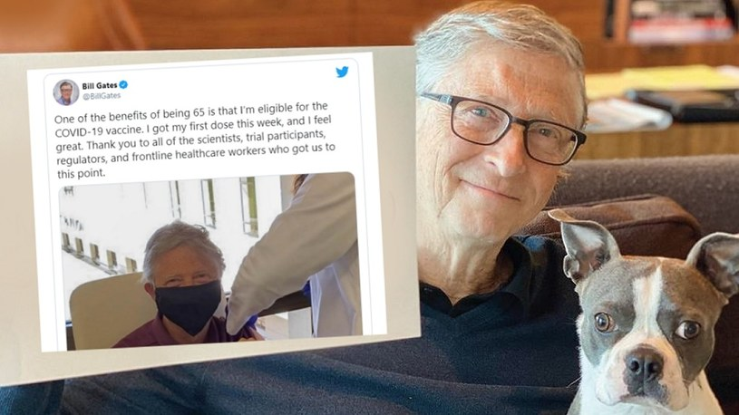 Bill Gates już zaszczepiony. Miliarder pokazał zdjęcie ze swojego szczepienia na CoVID-19 /Geekweek