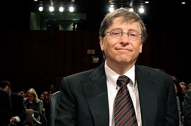 Bill Gates - symbol sukcesu świata technologi najlepiej rozpoznawalny  nerd świata /AFP