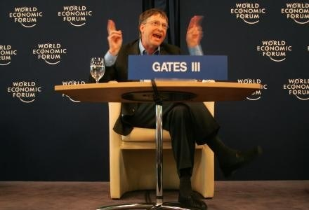 Bill Gates w Davos /AFP