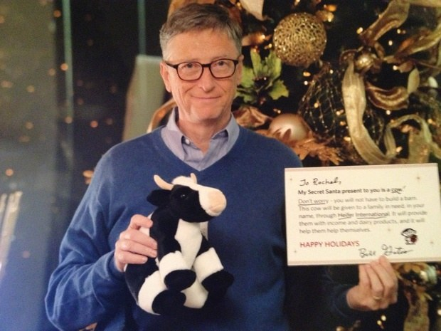 """Bill Gates wysłał także swoje zdjęcie, które miało udowodnić, że to rzeczywiście on jest tym """"tajemniczym Mikołajem"""" - zdjęcie pochodzi z forum Reddit - profil NY1227 /Internet"""