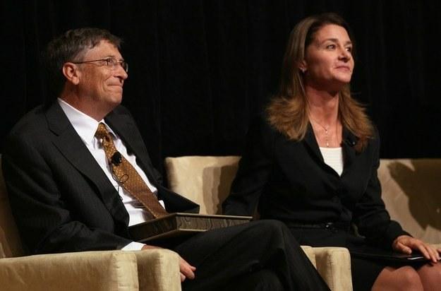 Bill Gates z małżonką - w ich domu nie ma miejsca na produkty Apple /AFP
