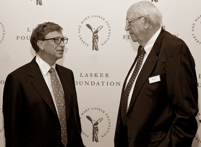 Bill Gates z ojcem, Williamem H. Gates Sr /AFP