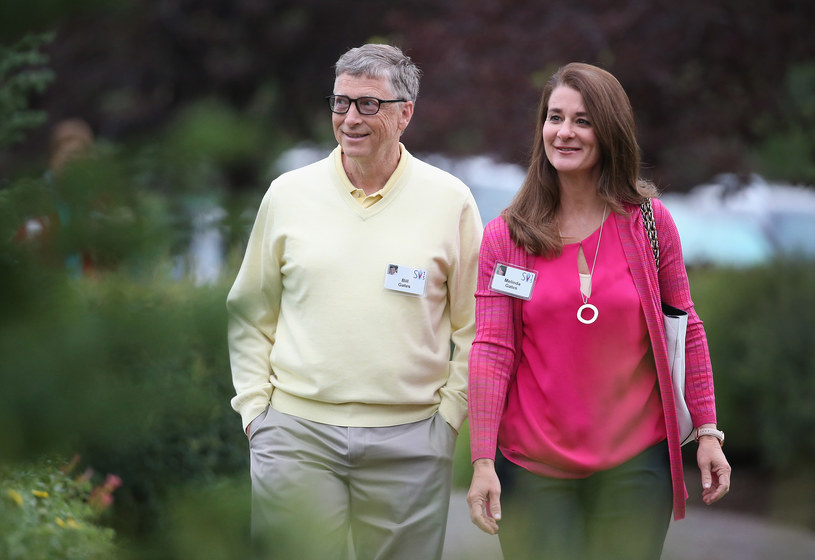 Bill Gates z żoną Melindą / Scott Olson / Staff /Getty Images