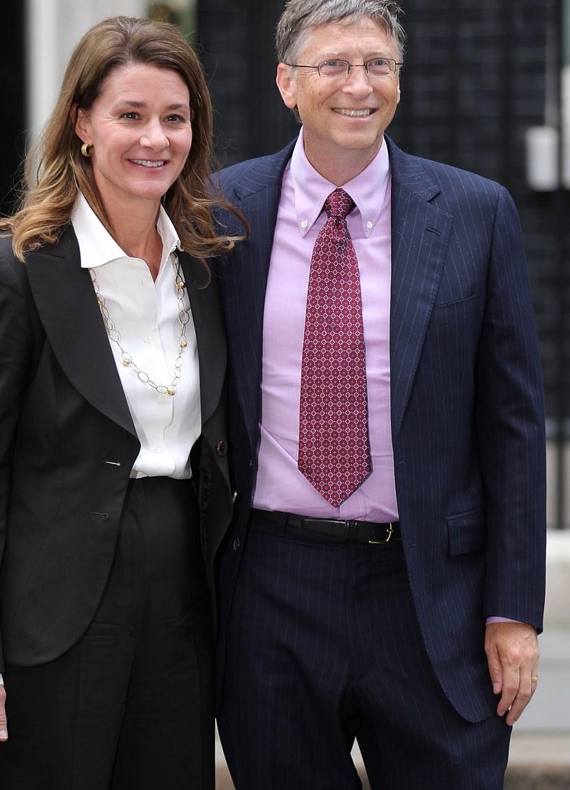 Bill Gates z żoną /Peter Macdiarmid /Getty Images