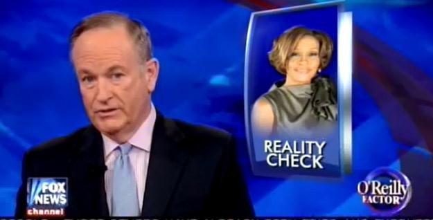 Bill O'Reilly ostro skomentował śmierć Whitney Houston /