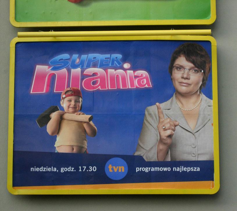 """Billboard reklamujący program """"Superniania"""" /Michał Szlaga /Reporter"""