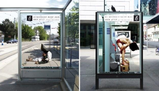 Billboardy Amnesty International w Szwajcarii /adland.tv /Sztukatulka.pl