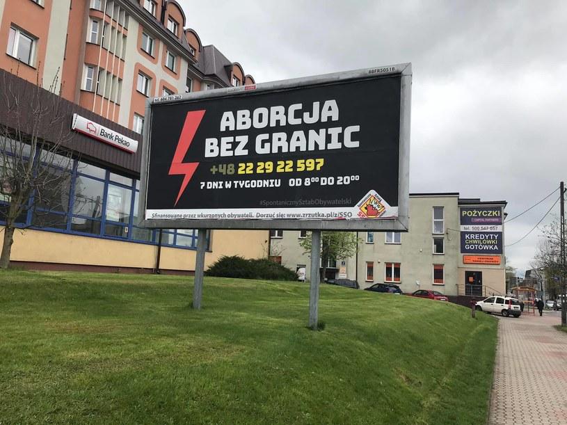 """Billboardy o """"Aborcji bez granic"""" w różnych miejscach Polski /Facebook/Spontaniczny Sztab Obywatelski /"""