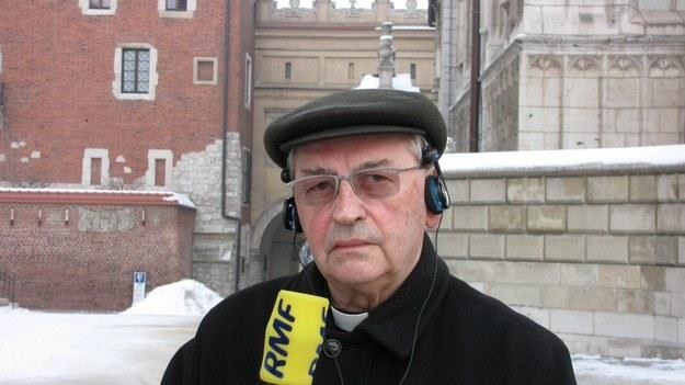 Biskup Tadeusz Pieronek, fot. Maciej Grzyb /RMF