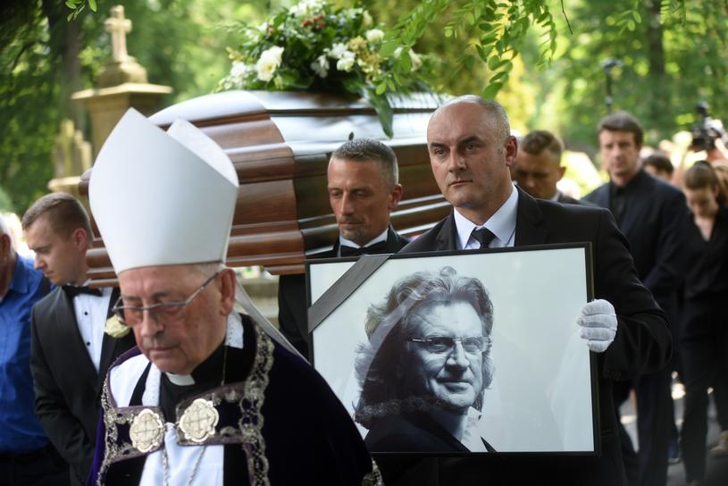 Biskup Tadeusz Pieronek podczas uroczystości pogrzebowych Zbigniewa Wodeckiego, maj 2017 /Marek Lasyk/REPORTER  /East News