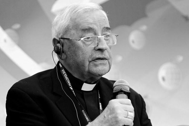 Biskup Tadeusz Pieronek podczas XXVIII Forum Ekonomicznego w Krynicy-Zdroju / Grzegorz Momot    /PAP