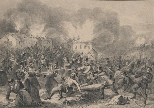 Bitwa pod Miechowem 17 lutego 1863 roku /Polona /domena publiczna