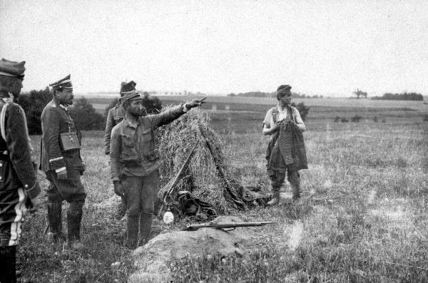 Generał Haller na stanowiskach Poznańskiej Dywizji w czasie Bitwy Warszawskiej, 1920