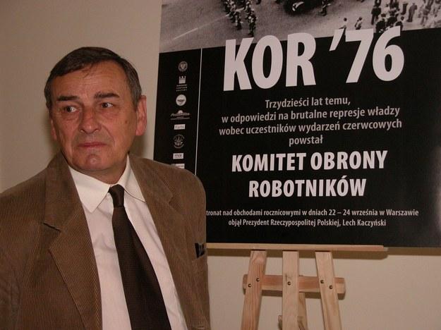Biurem kierowali Zofia i Zbigniew Romaszewscy (na zdjęciu Zbigniew Romaszewski) /Włodzimierz Wasyluk /East News